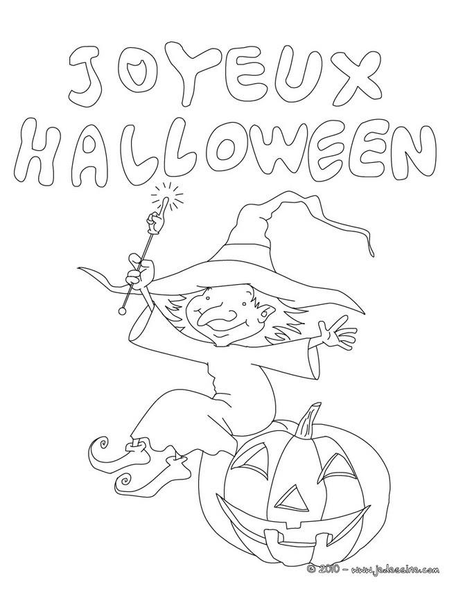 Coloriages joyeux halloween coloriage - Dessin a colorier d halloween ...