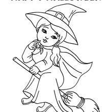 Happy Halloween jolie sorcière