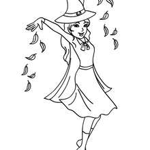 Coloriage d'un SORT - Coloriage - Coloriage FETES - Coloriage HALLOWEEN - Coloriage SORCIERE HALLOWEEN