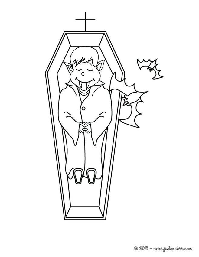 Coloriages vampire et son cercueil colorier fr - Coloriage de vampire a imprimer ...