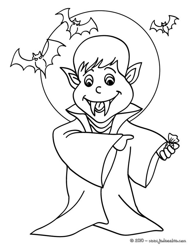 coloriage dhalloween coloriage gratuit vampire