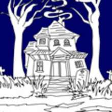 Coloriage CHATEAU HALLOWEEN - Coloriage FETES - Coloriage