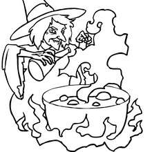 POTION MALEFIQUE  colorier - Coloriage - Coloriage FETES - Coloriage HALLOWEEN - Coloriage SORCIERE HALLOWEEN