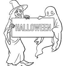 HALLOWWEN  colorier - Coloriage - Coloriage FETES - Coloriage HALLOWEEN - Coloriage SORCIERE HALLOWEEN