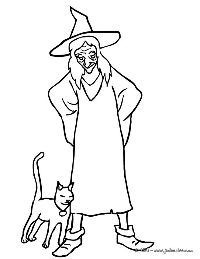 Coloriages coloriage chat noir - Chat noir dessin ...