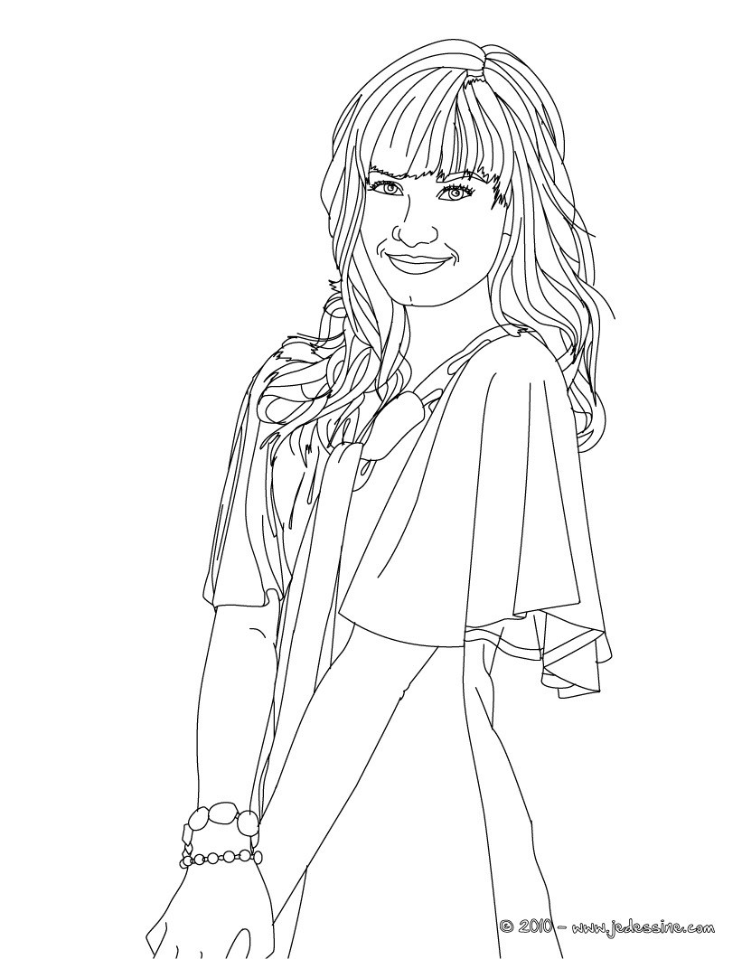 Demi lovato free coloring pages for Demi lovato coloring pages