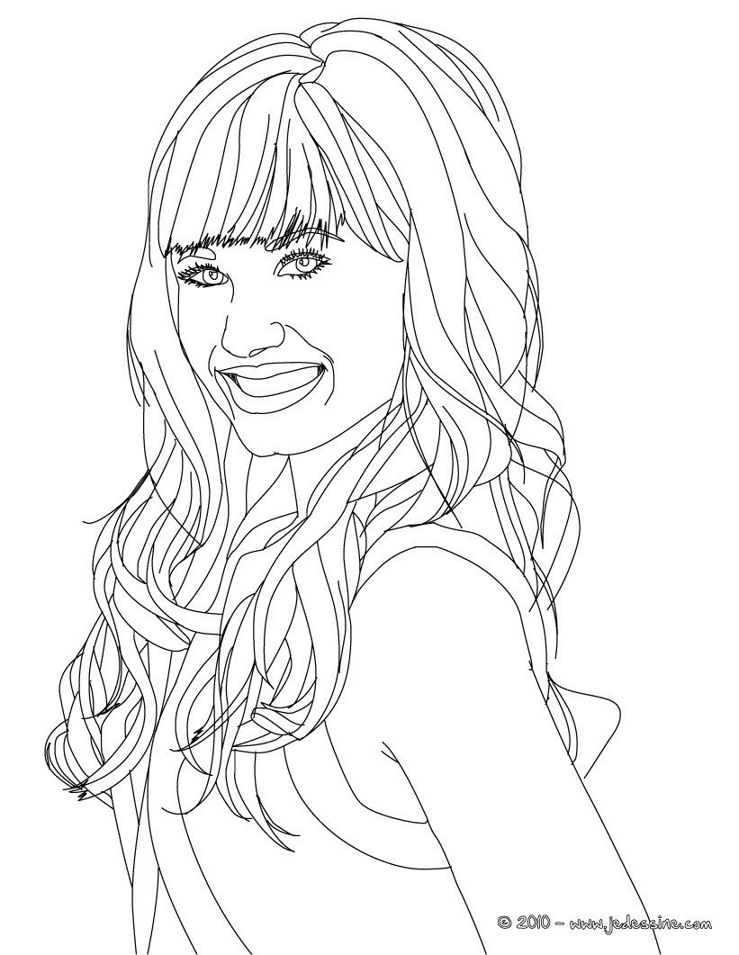 Demi Free Colouring Pages Drmo Lovatp Coloring Pages Printable