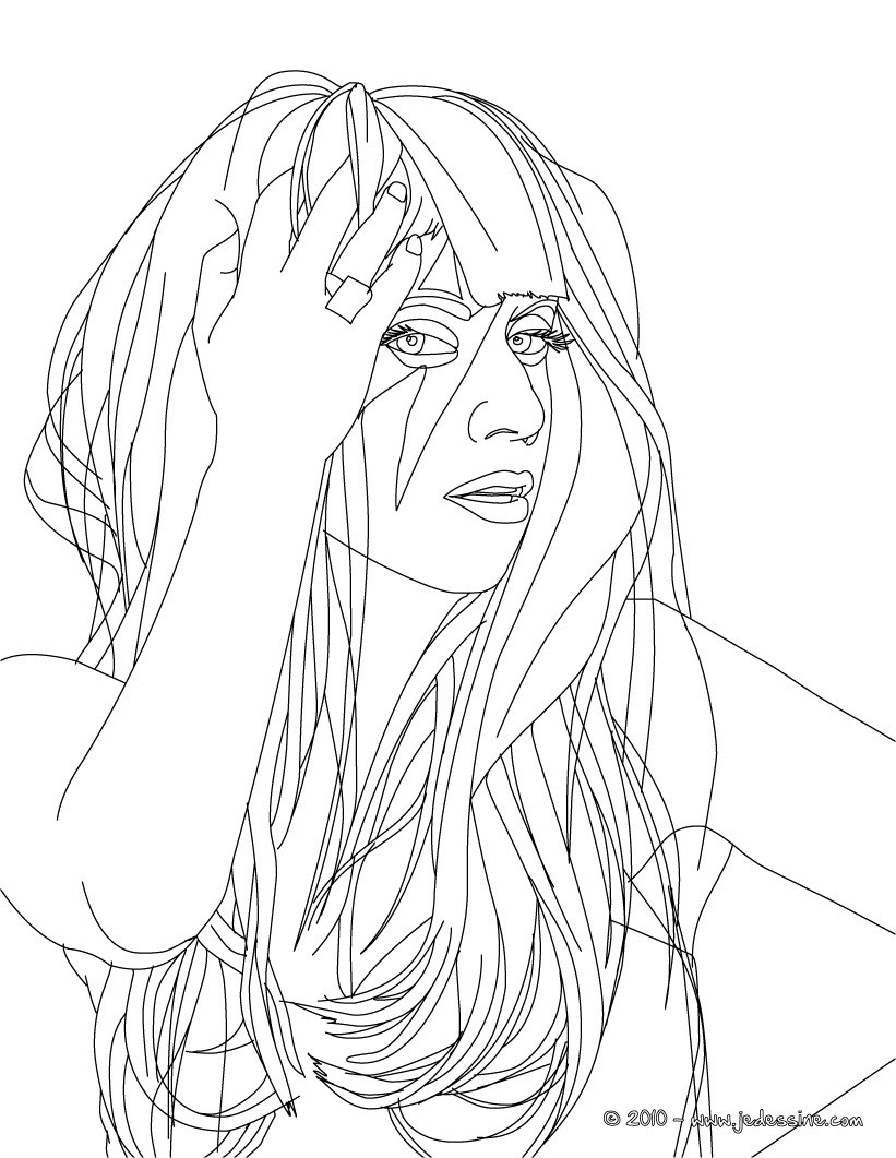 Coloriage : LADY GAGA à colorier