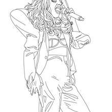 Colorie LADY GAGA - Coloriage - Coloriage DE STARS - Coloriage LADY GAGA