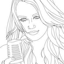 MYLEY CYRUS  imprimer - Coloriage - Coloriage DE STARS - Coloriage MILEY CYRUS