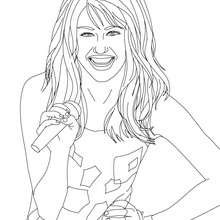 Coloriage en ligne MYLEY CYRUS - Coloriage - Coloriage DE STARS - Coloriage MILEY CYRUS