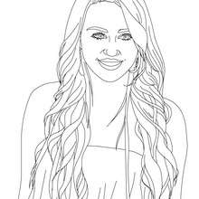Colorie MYLEY CYRUS - Coloriage - Coloriage DE STARS - Coloriage MILEY CYRUS