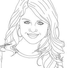SELENA GOMEZ  colorier - Coloriage - Coloriage DE STARS - Coloriage SELENA GOMEZ