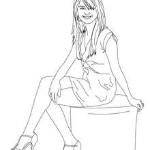 SELENA GOMEZ  imprimer - Coloriage - Coloriage DE STARS - Coloriage SELENA GOMEZ