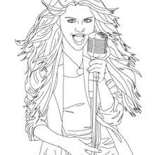 Image SELENA GOMEZ  colorier - Coloriage - Coloriage DE STARS - Coloriage SELENA GOMEZ