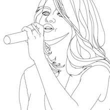 Coloriage gratuit SELENA GOMEZ - Coloriage - Coloriage DE STARS - Coloriage SELENA GOMEZ