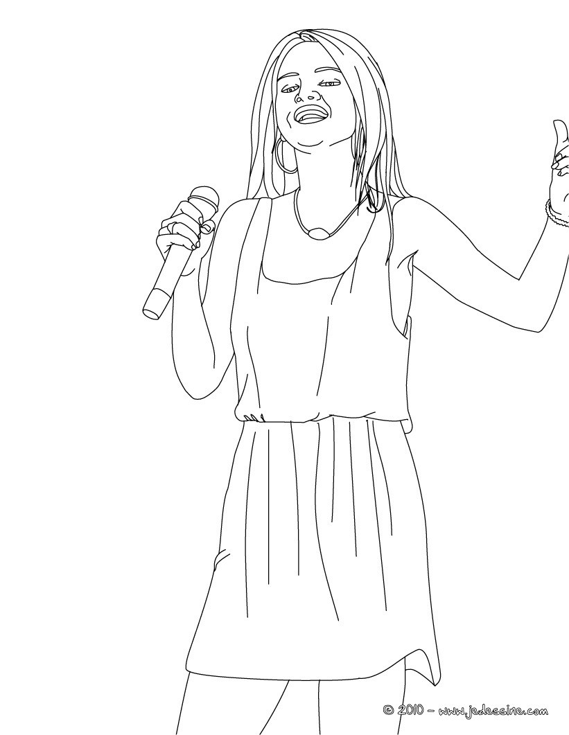 Coloriage : Photo SELENA GOMEZ à colorier