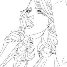 SELENA GOMEZ à imprimer gratuitement - Coloriage - Coloriage DE STARS - Coloriage SELENA GOMEZ