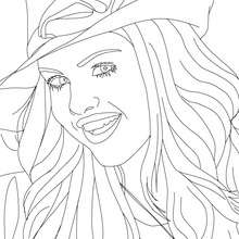 Visage SELENA GOMEZ  colorier - Coloriage - Coloriage DE STARS - Coloriage SELENA GOMEZ