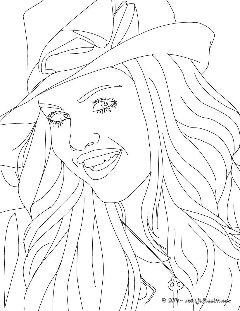 Coloriages visage selena gomez colorier - Selena gomez dessin ...