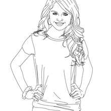 SELENA GOMEZ pose - Coloriage - Coloriage DE STARS - Coloriage SELENA GOMEZ