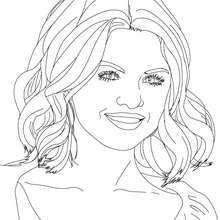 SELENA GOMEZ photo  colorier - Coloriage - Coloriage DE STARS - Coloriage SELENA GOMEZ