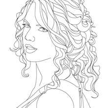 Portrait TAYLOR SWIFT - Coloriage - Coloriage DE STARS - Coloriage TAYLOR SWIFT