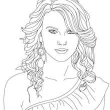 COloriage TAYLOR SWIFT - Coloriage - Coloriage DE STARS - Coloriage TAYLOR SWIFT