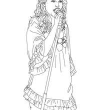 TAYLOR SWIFT  colorier - Coloriage - Coloriage DE STARS - Coloriage TAYLOR SWIFT