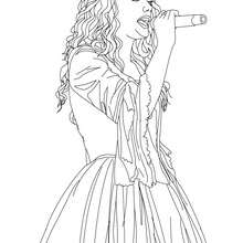 Coloriage gratuit TAYLOR SWIFT - Coloriage - Coloriage DE STARS - Coloriage TAYLOR SWIFT