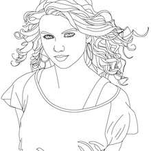 Colorier TAYLOR SWIFT - Coloriage - Coloriage DE STARS - Coloriage TAYLOR SWIFT