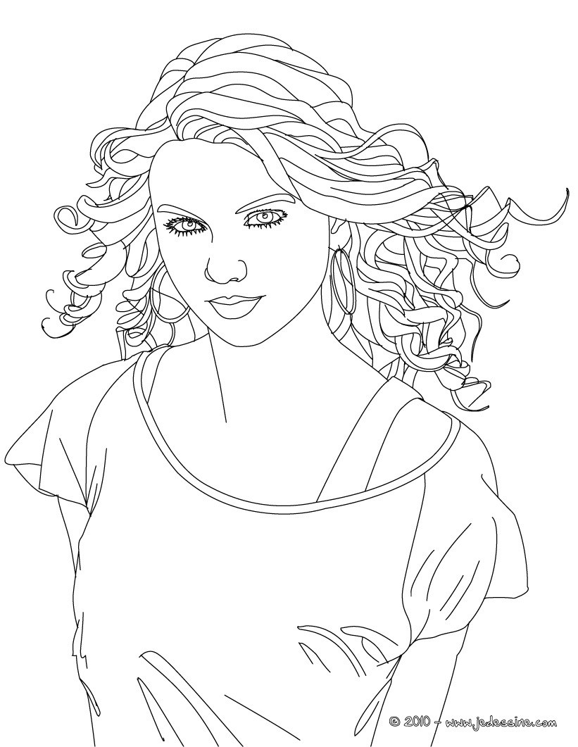 Coloriage : Colorier TAYLOR SWIFT