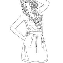 Dessiner TAYLOR SWIFT - Coloriage - Coloriage DE STARS - Coloriage TAYLOR SWIFT