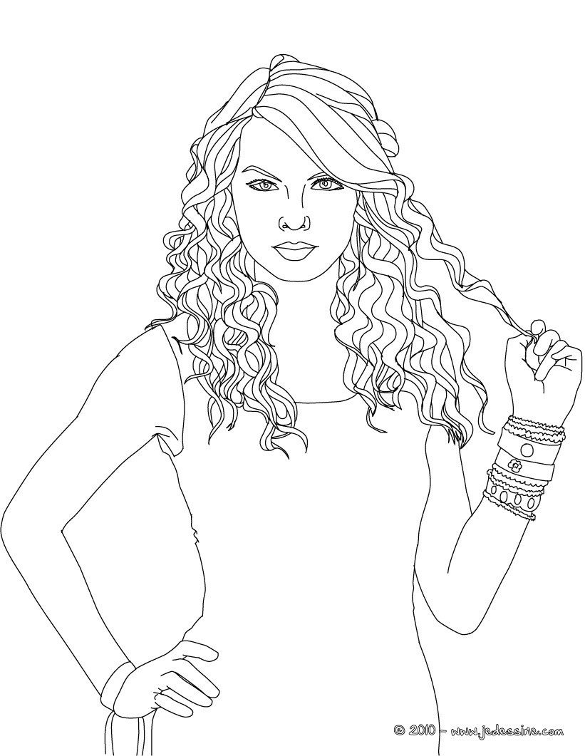 Coloriage TAYLOR SWIFT - COloriage TAYLOR SWIFTTaylor Swift Coloring Pages