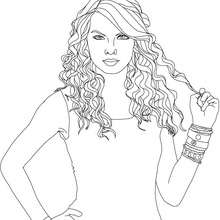 Colorie gratuitement TAYLOR SWIFT - Coloriage - Coloriage DE STARS - Coloriage TAYLOR SWIFT