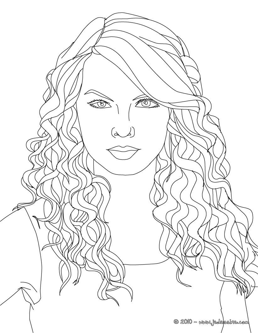 Coloriages visage taylor swift colorier - Coloriage visage ...