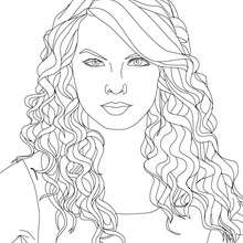 Visage TAYLOR SWIFT à colorier
