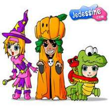 Casse-tête Ana, Téo et Mat Déguisés Halloween