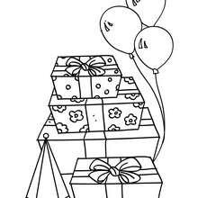 Cadeaux d'anniversaire à colorier