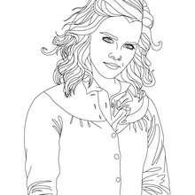 Regard Emma Watson à imprimer - Coloriage - Coloriage DE STARS - Coloriage EMMA WATSON