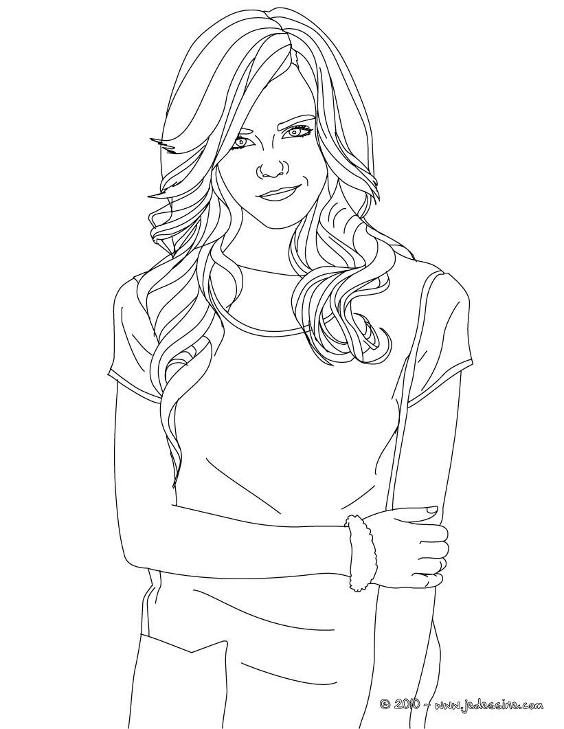 Coloriage Emma Watson sourire