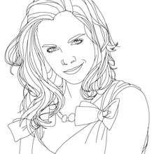 Emma Watson sourire à colorier - Coloriage - Coloriage DE STARS - Coloriage EMMA WATSON