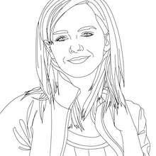 Coloriage Emma Watson blouson - Coloriage - Coloriage DE STARS - Coloriage EMMA WATSON