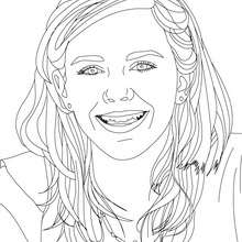 Coloriage Grand sourire Emma Watson