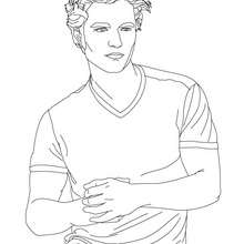 Coloriage Robert Pattinson tee-shirt - Coloriage - Coloriage DE STARS - Coloriage ROBERT PATTINSON