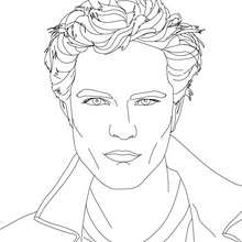 Visage Robert Pattinson  colorier - Coloriage - Coloriage DE STARS - Coloriage ROBERT PATTINSON