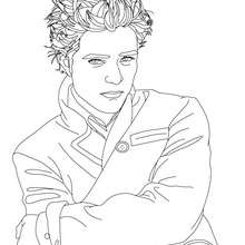 Coloriage Robert Pattinson veste - Coloriage - Coloriage DE STARS - Coloriage ROBERT PATTINSON