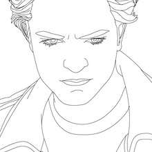 Coloriage regard Robert Pattinson - Coloriage - Coloriage DE STARS - Coloriage ROBERT PATTINSON