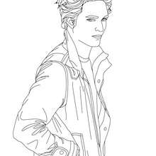 Coloriage Robert Pattinson profil - Coloriage - Coloriage DE STARS - Coloriage ROBERT PATTINSON