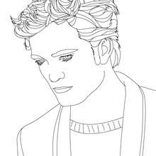Robert Pattinson portrait à imprimer - Coloriage - Coloriage DE STARS - Coloriage ROBERT PATTINSON